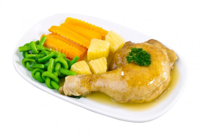 Udko kurczaka z fasolką szparagową
